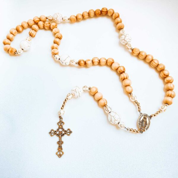 Our Kids at Heart Rosary with Wooden Beads