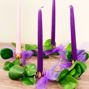 Our Kids at Heart Advent Wreath with Various Leaves