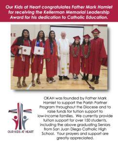 Father Mark Hamlet receives Kellerman Award