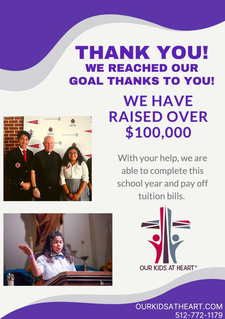 Thank you for helping us reach our $100k goal